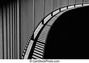 bridge fence with contrast