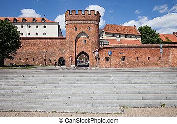 Bridge Gate and City Wall in Torun
