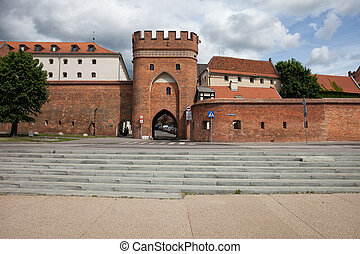 Bridge Gate and City Wall of Torun in Poland