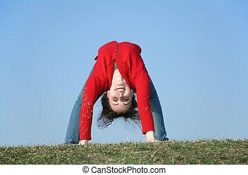 bridge gym girl on meadow 2
