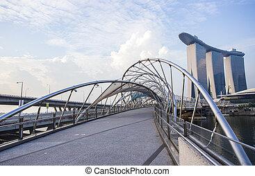 bridge., hélice, singapur
