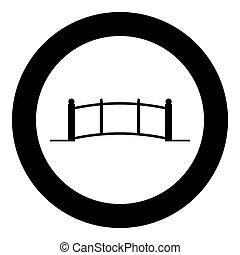 Bridge icon black color in circle