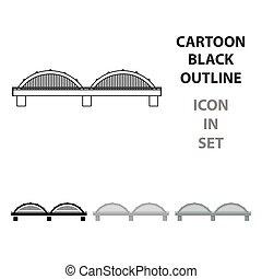 Bridge icon cartoon. Single building icon from the big city infrastructure cartoon.