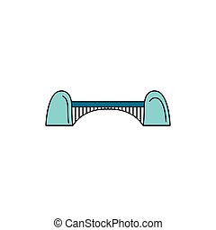 Bridge icon, cartoon style
