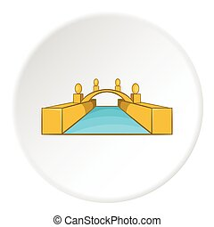 Bridge icon, cartoon style