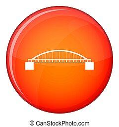Bridge icon, flat style