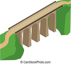 Bridge icon, isometric style