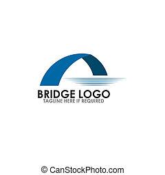 Bridge icon logo design vector template