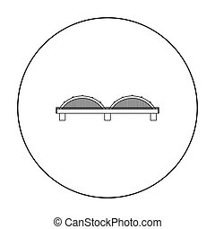 Bridge icon outline. Single building icon from the big city infrastructure outline.