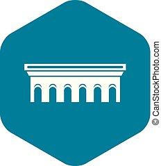 Bridge icon, simple style