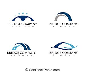 Bridge icon vector illustration Logo