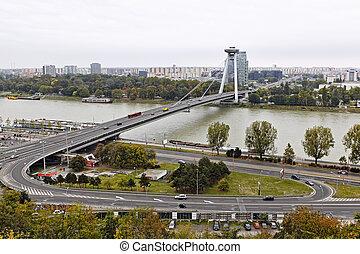 Bridge in Bratislava Slovakia