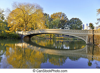 Bridge in Central Park, Manhattan