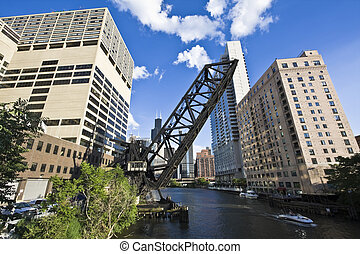 Bridge in Chicago - Bridge in Downtown Chicago, IL.
