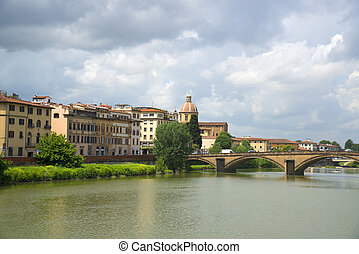 Bridge in Florence, Italy.