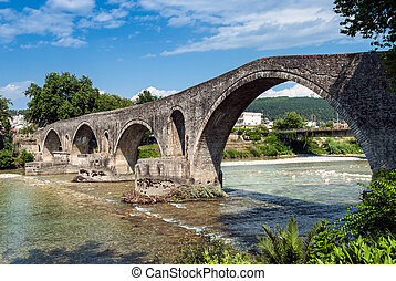 Bridge in Greece - The famous stone bridge in Arta, Greece