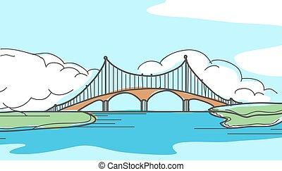 Bridge in hand drawn style