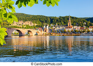 Bridge in Heidelberg - Bridge over Neckar in Heidelberg,...