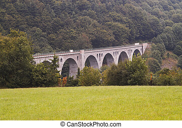 Roman railroad Viaduct in Germany.