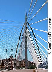 Modern futuristic bridge