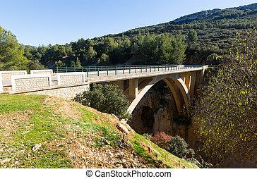 Bridge in mountains