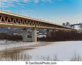 Bridge in Nizhny Novgorod in high resolution