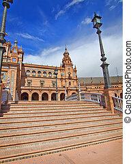 Bridge in Plaza de Espana, Seville, Spain