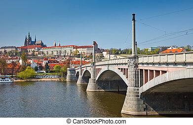 Bridge in Prague, Czech Republic