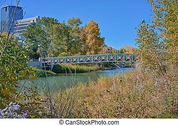 Bridge in Prince's Island Park