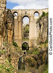 New Bridge (Spanish: Puente Nuevo) from 18th century in Ronda, southern Andalusia, Spain.