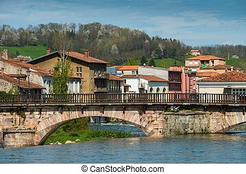 Bridge in Saint-Girons town, France