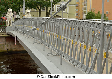 Bridge in the city across the canal.