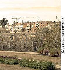 Bridge in the Guadalquivir in the Spanish city of Cordoba