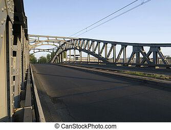 Bridge in the morning light - Bornholmer Bridge Berlin