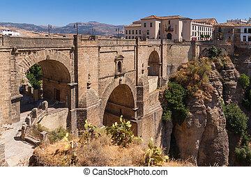 Bridge in the old city of Ronda, Spain