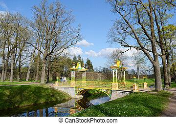 Bridge in the park.