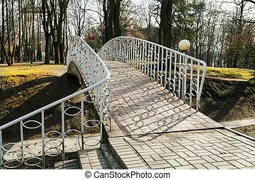 Bridge in the spring park