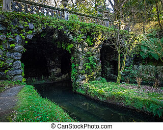 Bridge in the Terra Nostra Garden