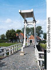 bridge in Veere place in Netherlands