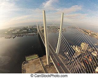 Bridge Zolotoy rog in Vladivostok, Russia