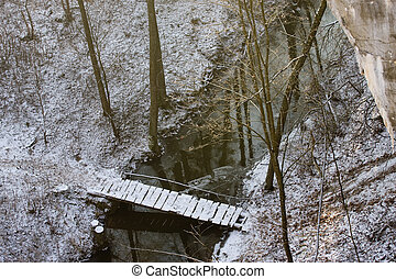 bridge in winter