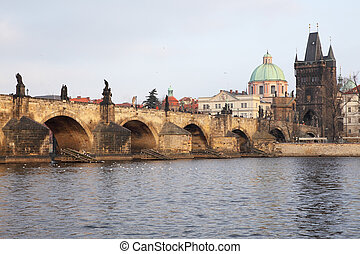 "bridge ""Karluv Most"", in Prague, Czech Republic"