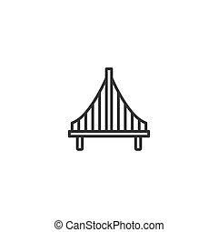 Bridge line icon in simple design on a white background