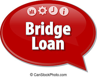 Bridge Loan Business term speech bubble illustration -...
