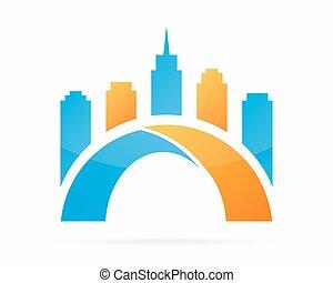 Bridge logo design elements