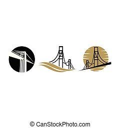 Bridge logo design emblem template