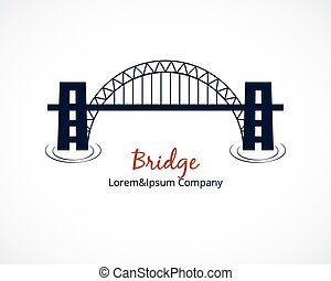 Bridge Logo Graphic Design on White Background
