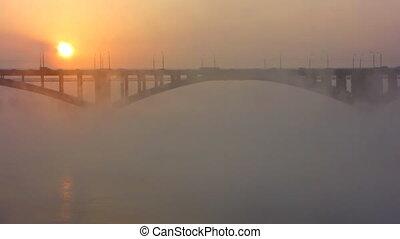 bridge, mist, sun 2
