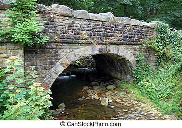 Bridge near Strid - An old bridge in Wharfedale, Yorkshire,...