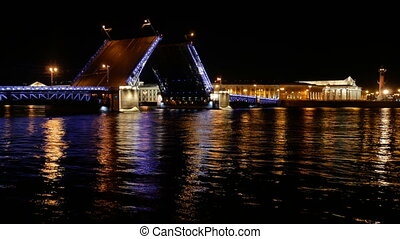 Bridge night city ship